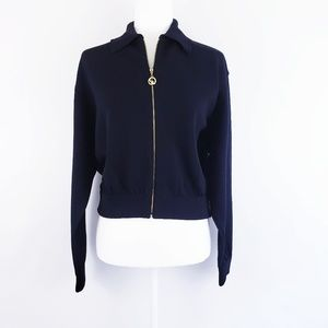 St. John Sport Santana Knit Sweater Jacket Black